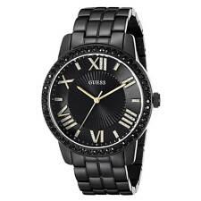 Guess U0329L5 Women's Luxe Black Dial Black IP Steel Crystal Watch