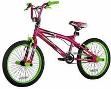 "Girls BMX Freestyle Bike 20"" Kent Pink Green Kids Teen Trick Stunt Bicycle New"