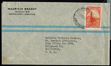 ARGENTINA c1943 ADVERTISING COVER*BUENOS AIRES TO HOLLYWOOD, CALIFORNIA, USA