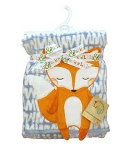 Fantastic Super Soft 3D Fox Design Baby Blanket Wrap by Lily & Jack 100 x 75 cm