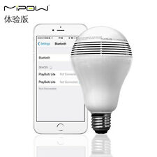 MIPOW PLAYBULB Smart LED Bulb Lights Wireless Bluetooth Speaker 110V 240V 5W E26