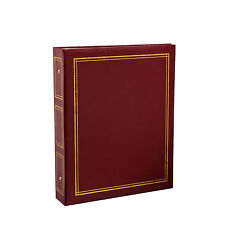 Deluxe Large Self Adhesive Ring Binder Photo Album 40 Sheets/80 Sides -Red -CL12