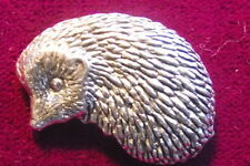 Quality Pewter Hedgehog Pin Brooch