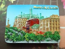 Canada Montreal Tourist Travel Souvenir 3D Resin Fridge Magnet Craft GIFT