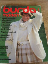 MAGAZINE BURDA MODEN LOOK ROCCK &TOP TAILLEUR CHIC MANTEAUX ELEGANTS ETC 1984