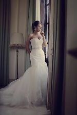 Stunning lace 'Enzoani Heather' wedding dress size 8 + long veil