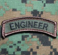 ENGINEER TAB TACTICAL USA ARMY VELCRO® BRAND FASTENER FOREST MORALE BADGE PATCH