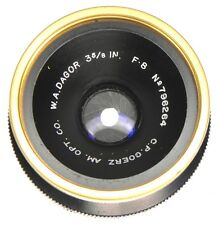Goerz 3 5/8in f8 W.A. Gold Rim Dagor Barrel Lens  #796264