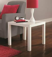 Living Room End Table Home Wood Furniture Modern Lamp Stand Side Coffee, White