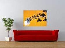 BEEKEEPER BANKSY STYLE HELICOPTER DESIGN GIANT ART PRINT PANEL POSTER NOR0499