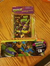 NEW TMNT Teenage Mutant Ninja Turtles 3pc Pencil Case and 2pc Stationery Set
