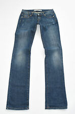 "Blue Denim DKNY JEANS Straight Stretch Faded Distressed Jeans Size 28 W30"" L36"""