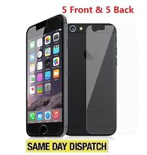"iPhone 6 6S 4.7"" Anti-scratch 5 Front and 5 Back Clear Screen Protectors Film"