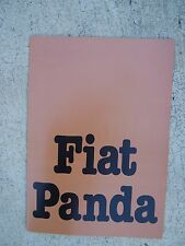 1980 Fiat Panda Auto Color Promo Brochure German Text Import MORE IN OUR STORE U