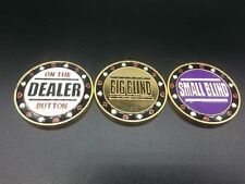 Metal Big Blind, Small Blind & Dealer Button,Poker buttons,Texas hold'em buttons