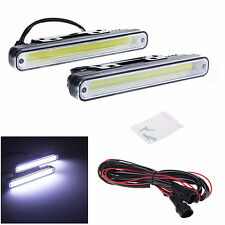 2 pcs Car Daytime Running Light COB LED DRL Daylight Kit Super White Head Lamp
