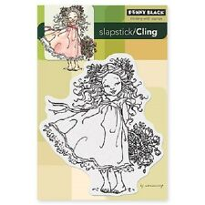 PENNY BLACK RUBBER STAMPS SLAPSTICK CLING FLOWER CHARM NEW STAMP 2013