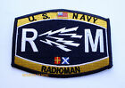 US NAVY RADIOMAN RM RATING HAT PATCH PIN UP USS USN ENLISTED CHIEF WOW GIFT