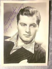 "1940s Actor GEORGE MONTGOMERY 5"" x 7"" AUTOGRAPH B&W Photo (Good) Inscribed"