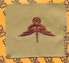 US Army Airborne Military Freefall Instructor MFF wing Desert DCU patch
