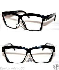 Nerd Clear Lens Geek Oversize XL Glasses Super Retro black silver frame  422