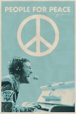 JOHN LENNON ~ PEOPLE FOR PEACE 24x36 MUSIC POSTER Sign Symbol Piano Beatles