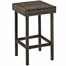 Crosley CO7107-BR Palm Harbor Outdoor Wicker Counter Bar Stool Set of 2 New