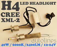 H4 LED CREE XML-2 40W 2400LM Car White Headlight Lamp High Low Kit Globes Bulbs