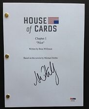 MICHAEL KELLY SIGNED HOUSE OF CARDS PILOT SCRIPT FULL 65 PAGES PSA DNA COA