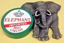 Elephant Imported Malt Liquor Collectible Bar Sign Anheuser Busch 1987 3D Foam