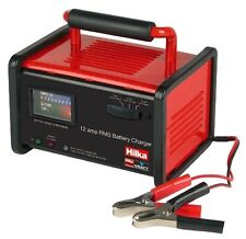 NEW! HILKA HEAVY DUTY 12 AMP (RMS) PROFESSIONAL BATTERY CHARGER