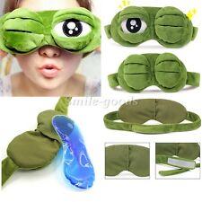 Soft Eye Sleep Mask Padded Cold fomentation Rest Travel Relax Sleeping Blindfold