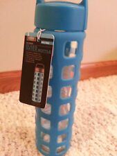 Glass water bottle 20 ounce BPA free silicone sleeve leak proof NWT free ship