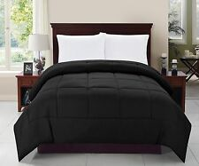 Elegant Comfort Goose Down Alternative Luxurious Solid Comforter All Sizes