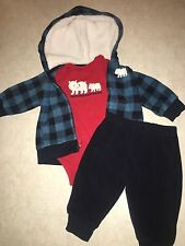 BABY BOYS 3 MONTHS THREE PIECE OUTFIT WITH JACKET CARTER'S MY FAMILY ADORES ME !