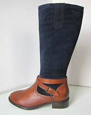 Tamaris tants Bottes Mix Bleu qu't 38 Boots M L Daim Blue Brown COGNAC