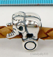 1x STERLING SILVER Elephant Trick Circus EUROPEAN BRACELET CHARM BEAD #2023