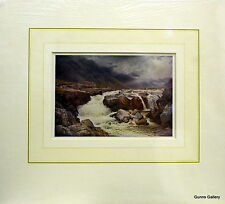 Vintage Print Sutton Palmer mounted to frame River Orel Perthshire