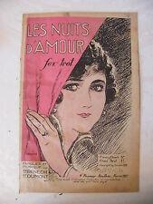 Partition Les Nuits d'amour Fox Trot Bénech & Dumont 1937