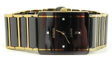 RADO DIASTAR WOMAN  Watch  Quartz Ceramic 18K PVD 4 DIAMONDS Good  Condition