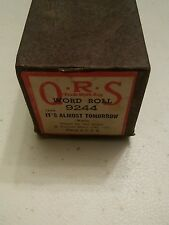 000 QRS Player Piano Music World Roll 9244 Its Almost Tomorrow Waltz Ted Baxter