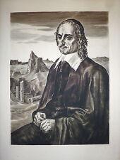 Albert Decaris gravure signée mathématicien physicien inventeur Blaise Pascal