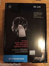 Sennheiser RS120 On-Ear Wireless RF TV Headphones With Charging Dock