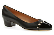 Salvatore Ferragamo Pim Chain Pump Black Size 8 C