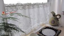 "Handmade Battenburg Lace Cafe Curtain/Valance~White~15""*50""~Victorian Elegance~"