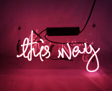 """TN049 """"This Way"""" Home Room Poster Beer Bar Bud Love Lamp Neon Light Sign 10""""x6"""""""