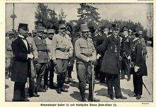 Kaisergeburtstag Franz Josefs Stadthalter Fries-Skene Triest Bilddokumente 1915