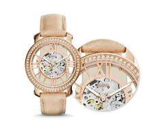 FOSSIL WOMEN'S AUTOMATIC SKELETON ROSE GOLD WATCH ME3060