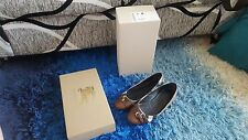 Burberry Shoes Brown Size 37: Bridle Housecheck Avonwick Ballerina