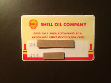Shell Oil Company 1950's Vintage Collectors Credit Card - San Francisco, Ca